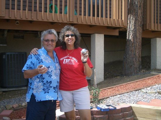Whispering Pines Bed and Breakfast: A friendly game of Petanque with Tim