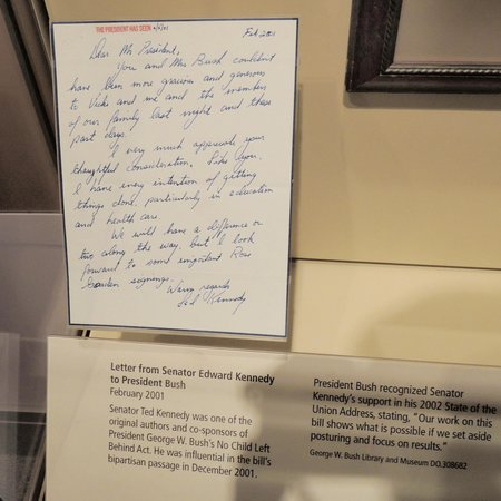 The George W. Bush Presidential Library and Museum: Letter from Ted Kennedy