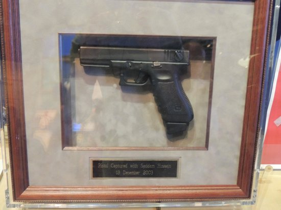 The George W. Bush Presidential Library and Museum: Saddam Hussein's Glock pistol