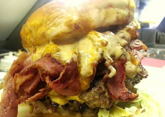 Campfire Grille: Our New Woodsmans Burger Topped with Pastrami