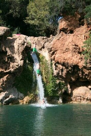 Me jumping off the waterfall 'Pego do inferno'