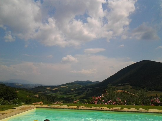 Casa San Gabriel: the view from the pool