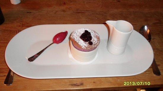 Gregans Castle Hotel : Black current souffle