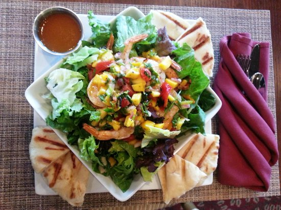 Vista's Land and Sea: One of many fresh salads at Vistas