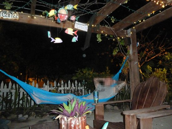 Changes In Latitudes Bed and Breakfast : patio area with hammocks, perfect place to read a book or relax after a long day