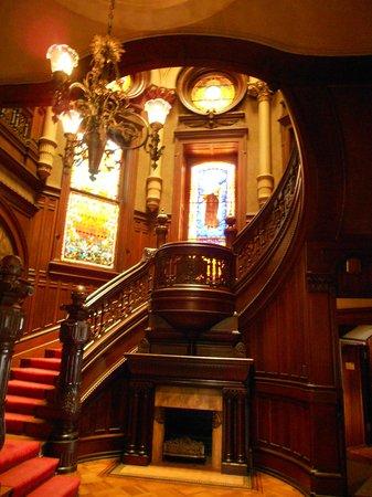 Bishop's Palace: Main staircase