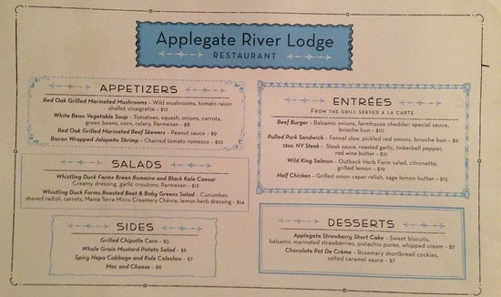 Applegate, OR: Chef Gordon Ramsay & Chef Camellia Sri Devi's new menu for the lodge