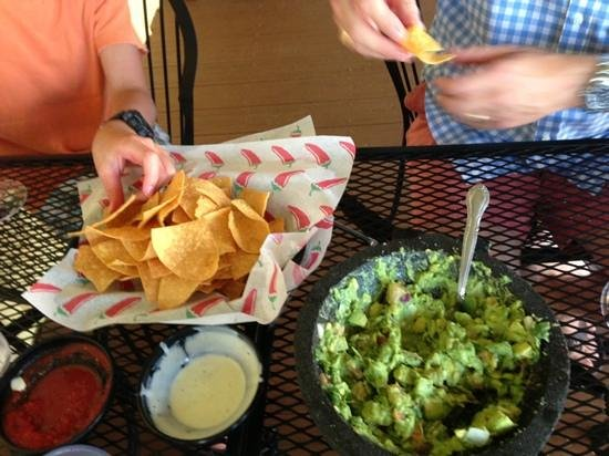 Mexico Viejo: table side guacamole.... delish!