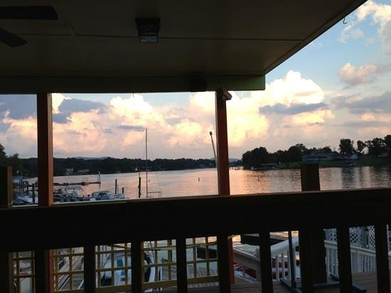 Mexico Viejo: view from table.... sunset over SML