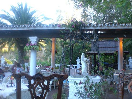 The Roman Oasis Restaurant : beautiful setting