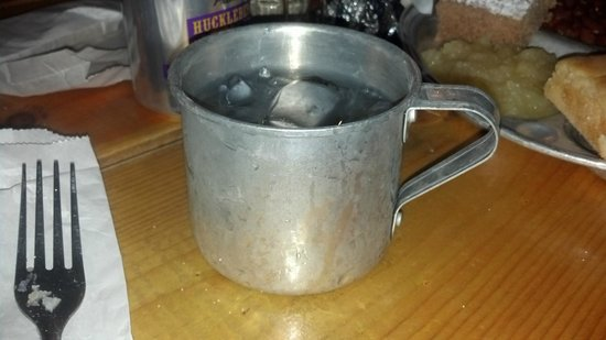 Bar J Chuckwagon Supper & Western Music Show: Water in a tin cup