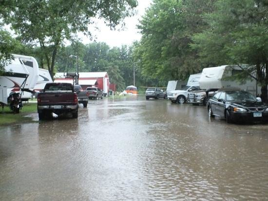 Camp Faribo: The RV parks, during a rare flood!