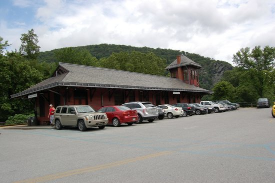 Harpers Ferry KOA: The Railroad staiton in Harpers Ferry .