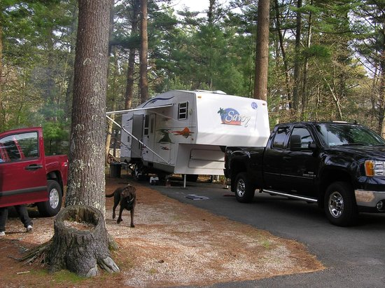 Cape Cod Campresort & Cabins: Our campsite