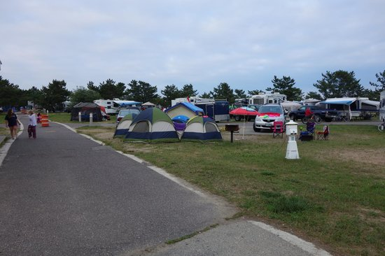 Salisbury Beach State Reservation Campground: Not my idea of a fun place to camp