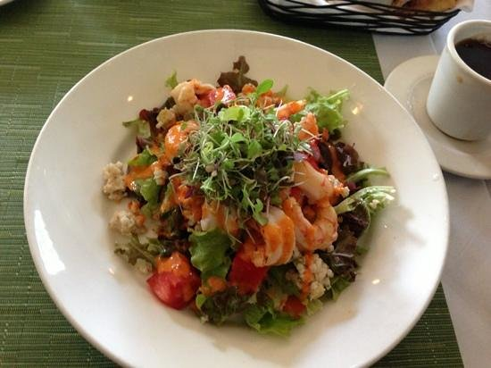 Metro Bis: Red shrimp with Isreali couscous and super veggies!