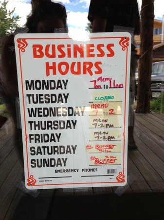 Fat Cat Cafe: business hours