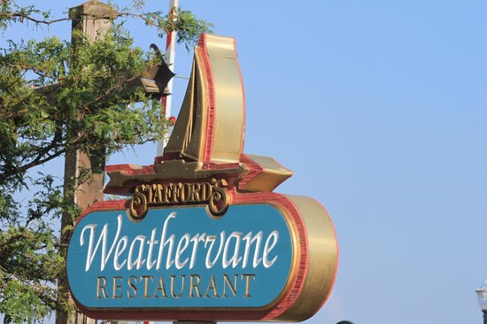 Stafford's Weathervane Restaurant: sign