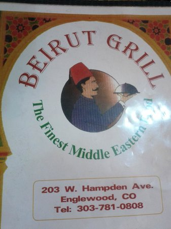 Beirut Grill: Quik pic of menu
