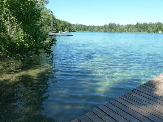Lake Five Resort : View from private dock Cabin 12