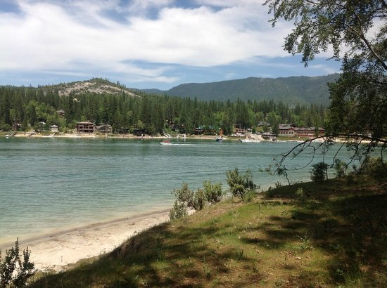 The Pines Resort: From across lake