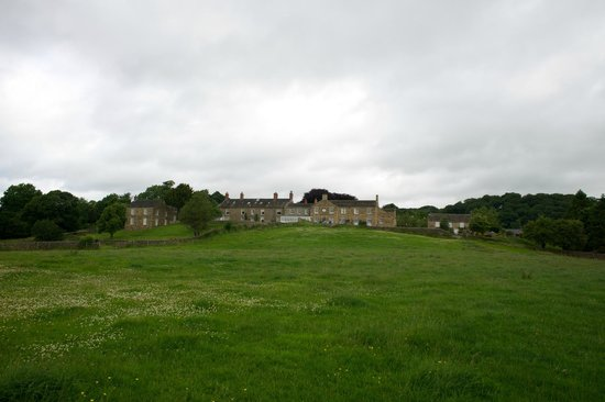 View of the Cavendish Hotel from fields