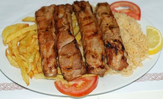 carne de porco entrecosto de porco na brasa   picture of o