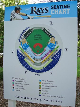 Tropicana field seating chart picture of tropicana field st