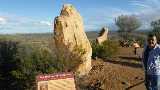 The Broken Hill Sculptures & Living Desert Sanctuary: Hill top site