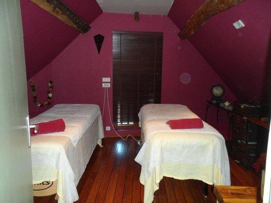 Le Jardin de Valentine : Salle de massage duo
