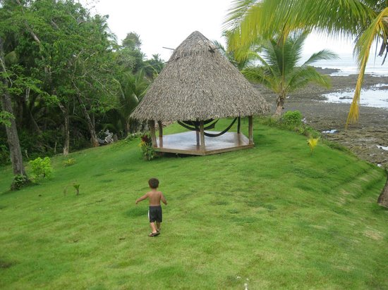 Cabanas Time Out: Hammocks - grandson running to beach path