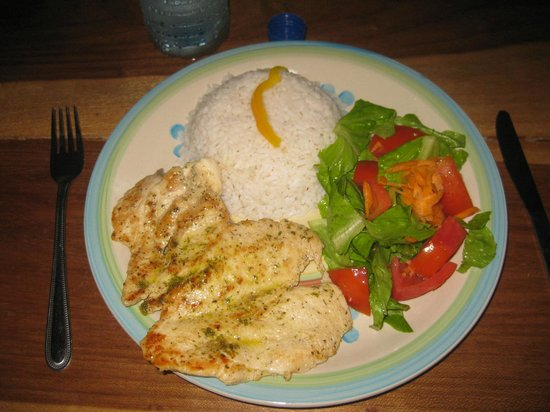 Cabanas Time Out: Iris' delicious chicken and coconut rice-YUM!