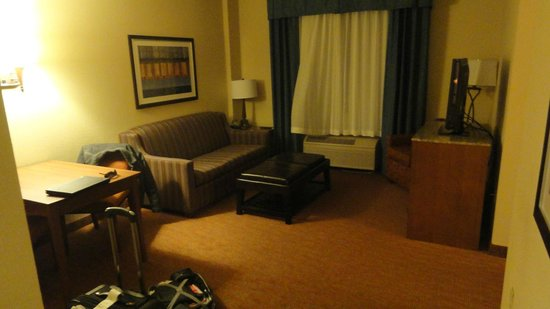 Holiday Inn Express Coralville: living room
