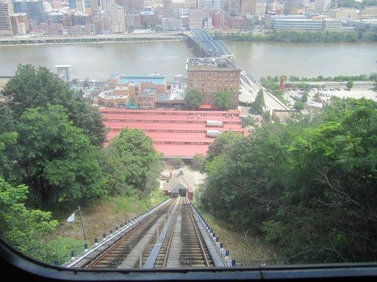 Monongahela Incline: view of Pittsburgh