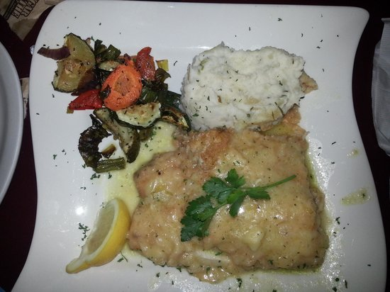 Cap's Place: Sauteed Mahi Mahi dinner with sour cream chive mashed potatoes. delish!!!