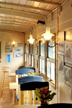 Dalat Train Cafe: Train Car Cafe Inside
