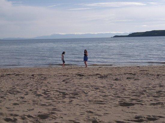Sands Caravan & Camping Park: My girls on the beach