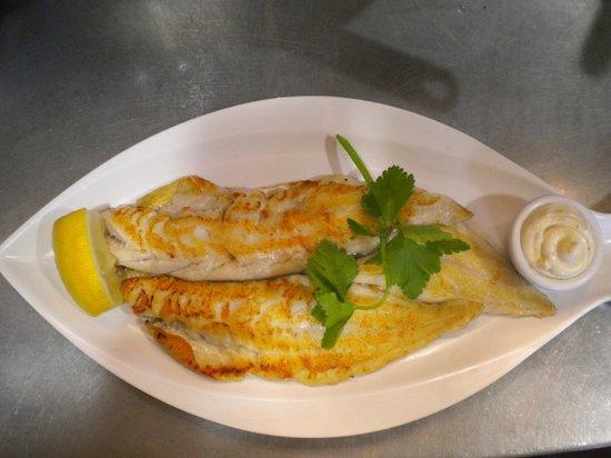 The Hollow Bar: pan fried haddock
