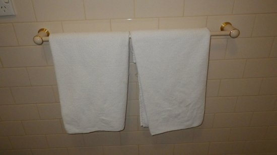 Blinman Hotel: Those 'thin' towels. Not like the great bed linen