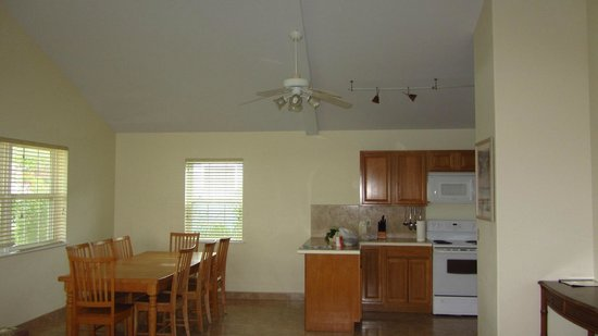 Open Concept Kitchen And Dining Room Area In Apartment