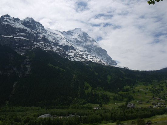 Hotel Spinne: View from room - Mt. Eiger
