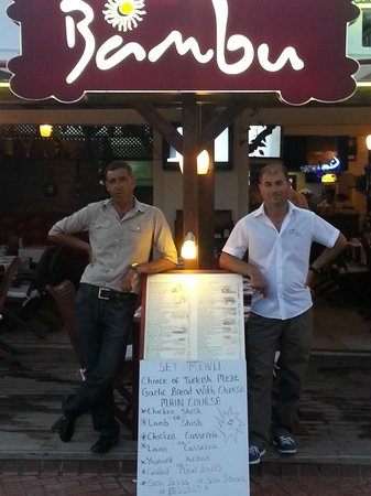Bambu Lounge & Bistro: George and 'Fast Eddie' !!