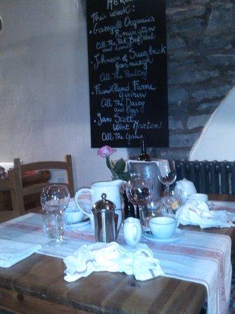 La Locanda: upstairs table