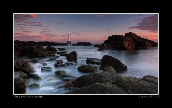 Aberdeenshire, UK: The south breakwater, aberdeen