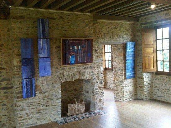 Château de Gratot : Paysages bleus au Chateau de Gratot