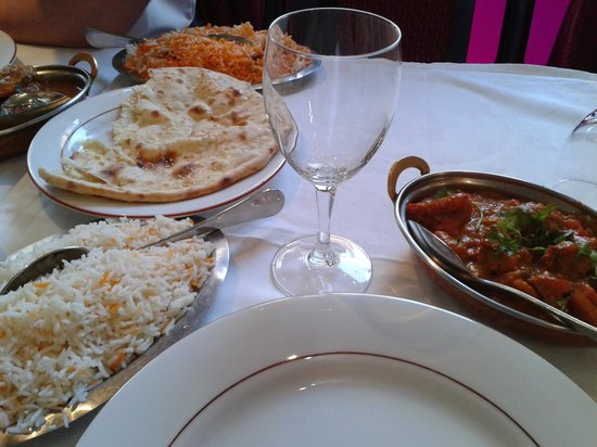 Mumtaz: poulet tikka riz basmati et naan fromage