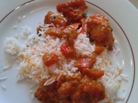 Mumtaz: poulet tikka masala et riz basmati