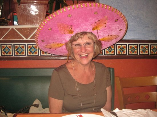 Mexicali Grill : Sis with birthday sombrero