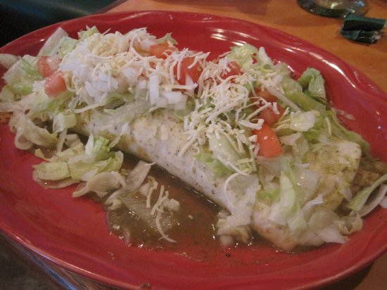 Mexicali Grill: Mexicali Burrito with pork chili verde