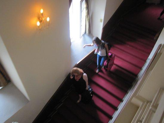 Apartamenty Shanti: beschwerlicher Abstieg mit Gepäck